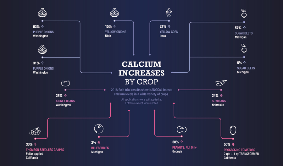 Oro-Agri ENCOURAGE NANOCAL Calcium Uptake by Crop